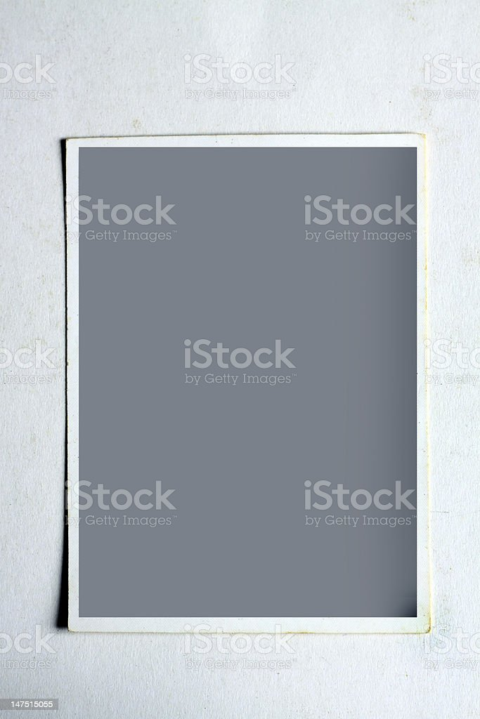 Old Vintage Blank Photo royalty-free stock photo