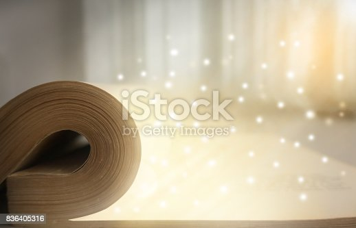 528363897istockphoto Old vintage book close-up 836405316