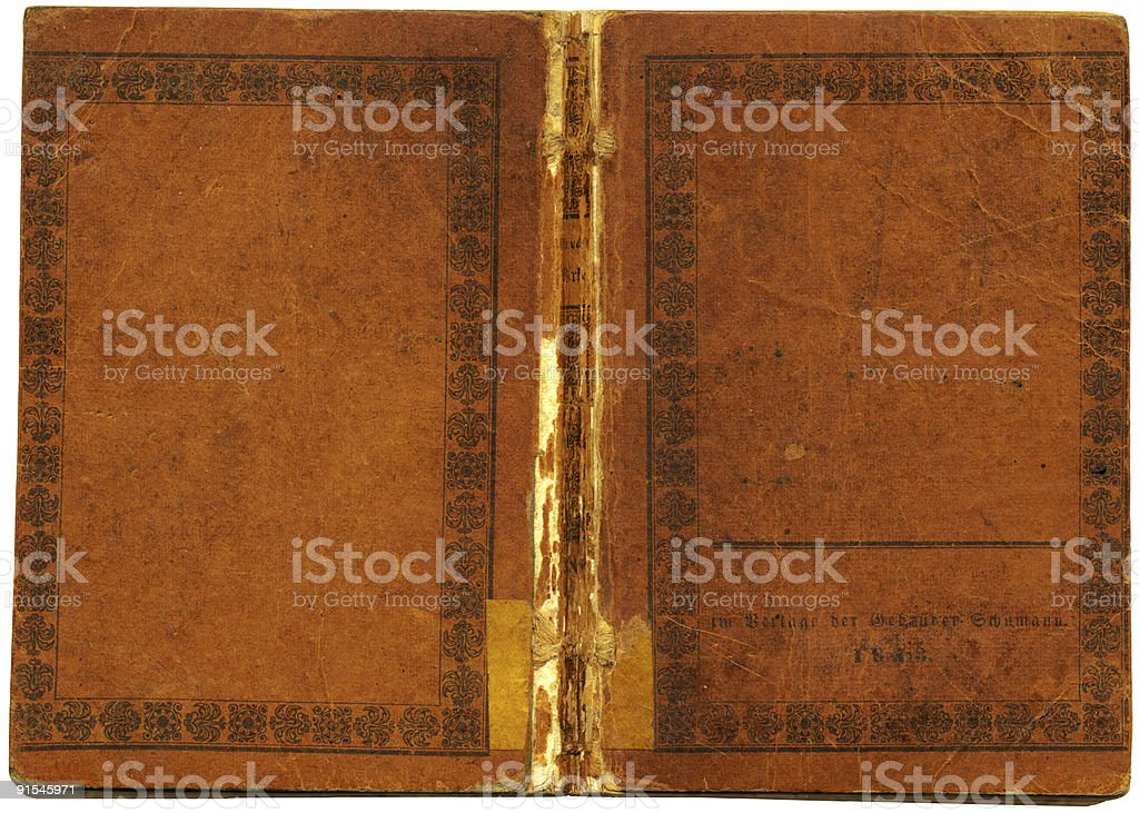 Old vintage book cover royalty-free stock photo