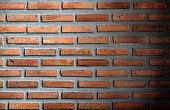Old vintage brick wall texture grunge background - Image