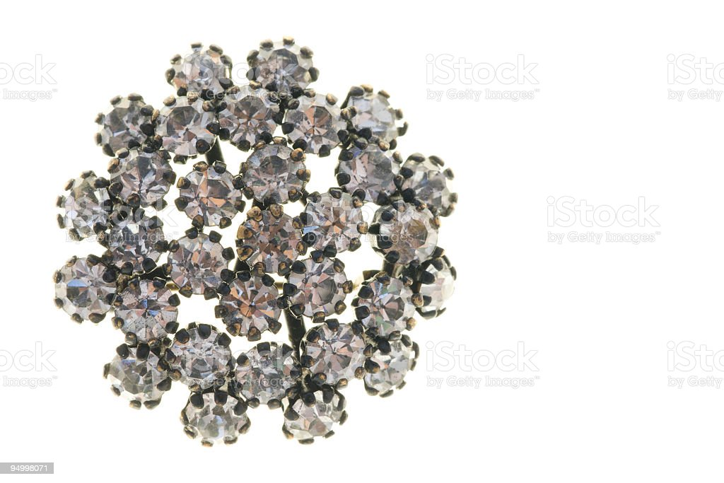 Old vintage brooch royalty-free stock photo