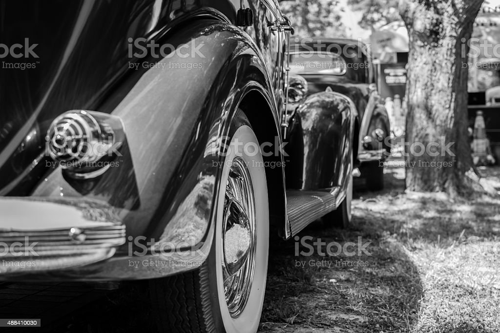 Old vintage car stock photo