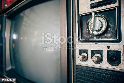 istock Old vintage classic retro television 948328716