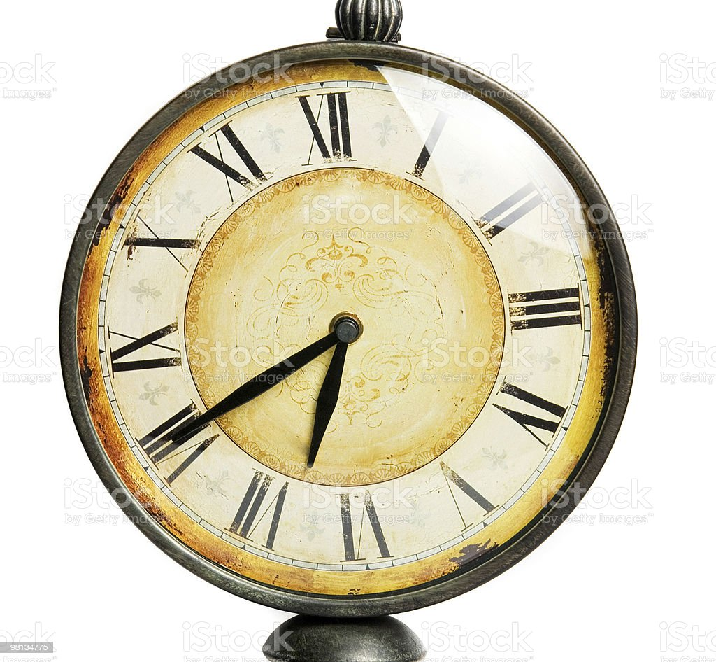old vintage clock royalty-free stock photo