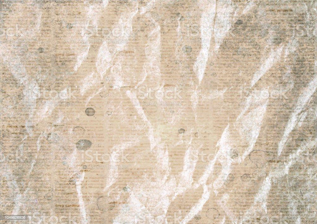 Fondo De Textura De Papel De Periódico Arrugado Vintage Antiguo Foto