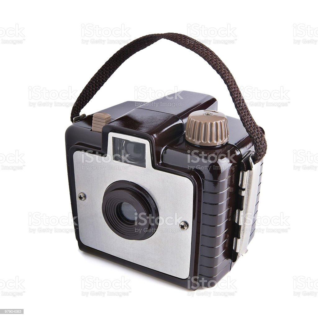Old vintage film camera royalty-free stock photo
