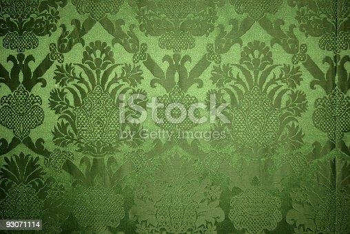 Old vintage green wallpaper texture
