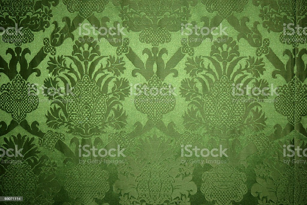 Old vintage green wallpaper texture stock photo