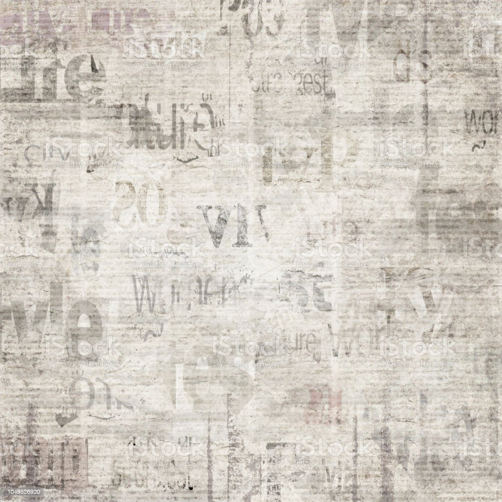 Old Vintage Grunge Newspaper Paper Texture Background ...