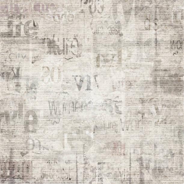 alte vintage grunge zeitung textur papierhintergrund - digitale verbesserung stock-fotos und bilder