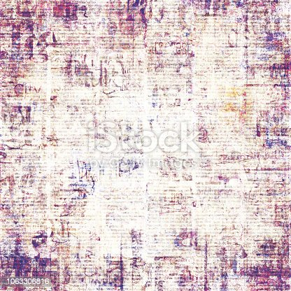 istock Old vintage grunge newspaper paper texture background 1063306816