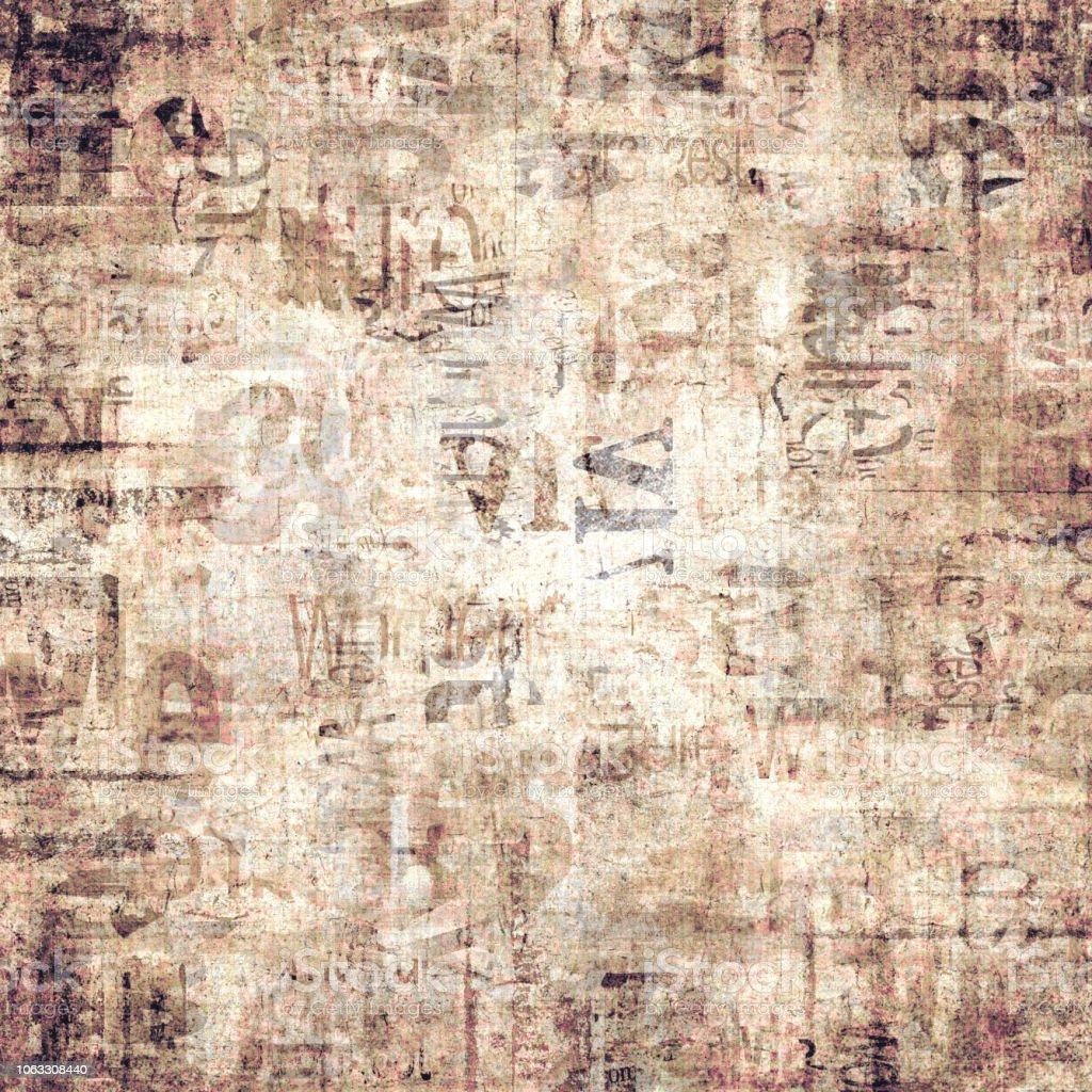 Antiguo Fondo De Textura Grunge Vintage Periódico Papel Foto De