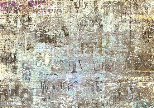 497021263 istock photo Old vintage grunge newspaper paper texture background 1189767996
