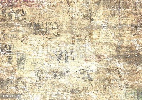 497021263 istock photo Old vintage grunge newspaper paper texture background 1191717199