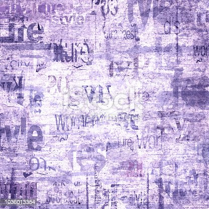 istock Old vintage grunge newspaper texture background 1036013354