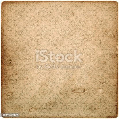 istock old vintage grunge paper sheet with pattern 462878925