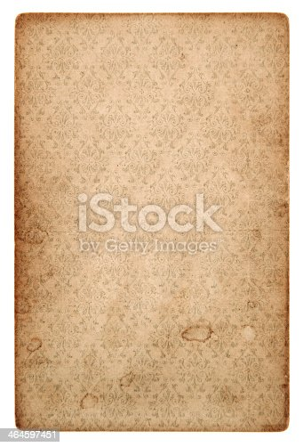 istock old vintage grunge paper sheet with pattern 464597451
