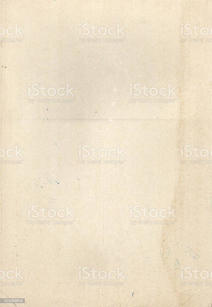 old vintage heavy paper stock photo