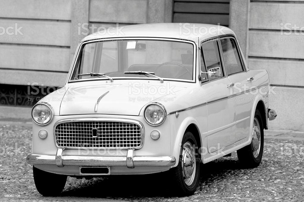 Vecchia auto d'epoca, immagini in bianco e nero foto stock royalty-free