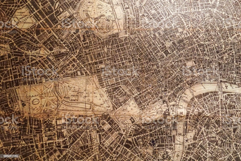 old vintage map foto stock royalty-free
