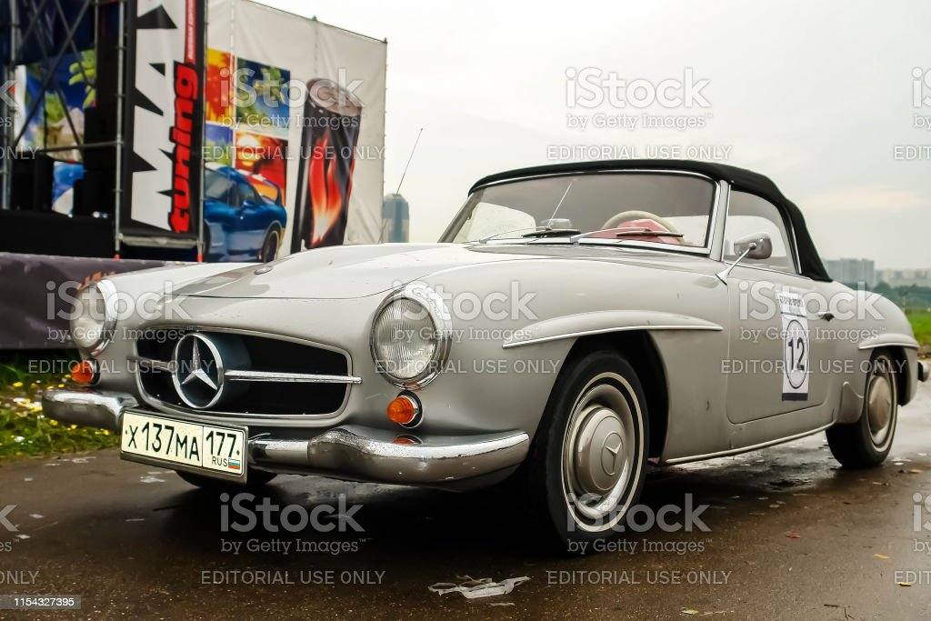 Old Vintage Mercedes Benz 190 Sl Convertible In Gray Color Parked Stock Photo Download Image Now Istock