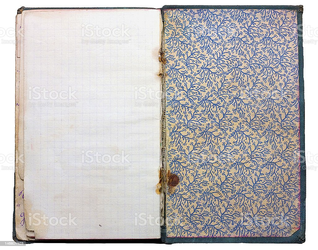 Old vintage notepad royalty-free stock photo