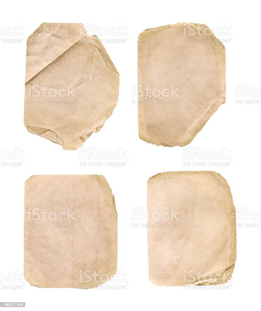 Old Vintage Paper Backgrounds Set Royalty Free Stock Photo
