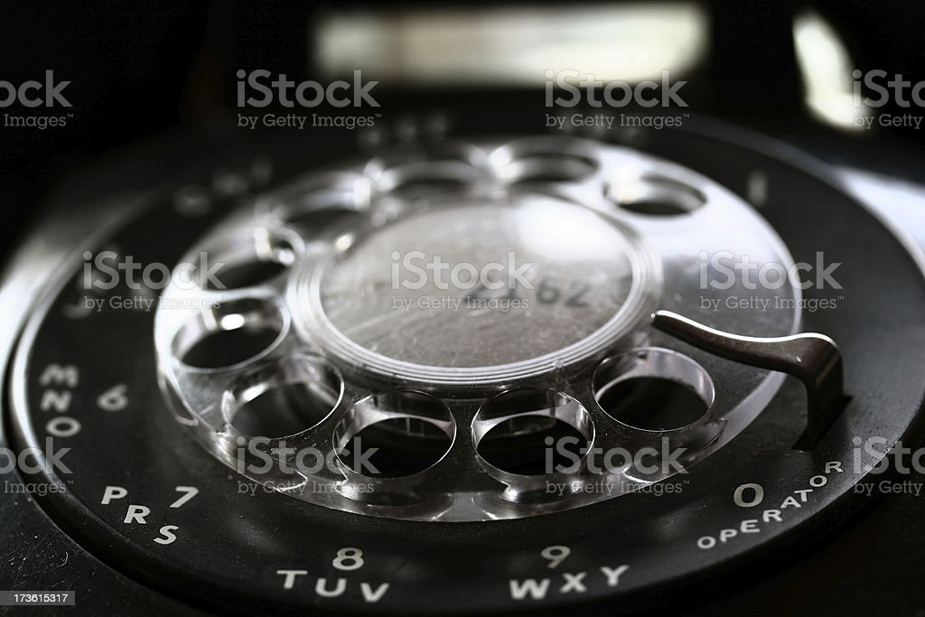 Old vintage phone royalty-free stock photo