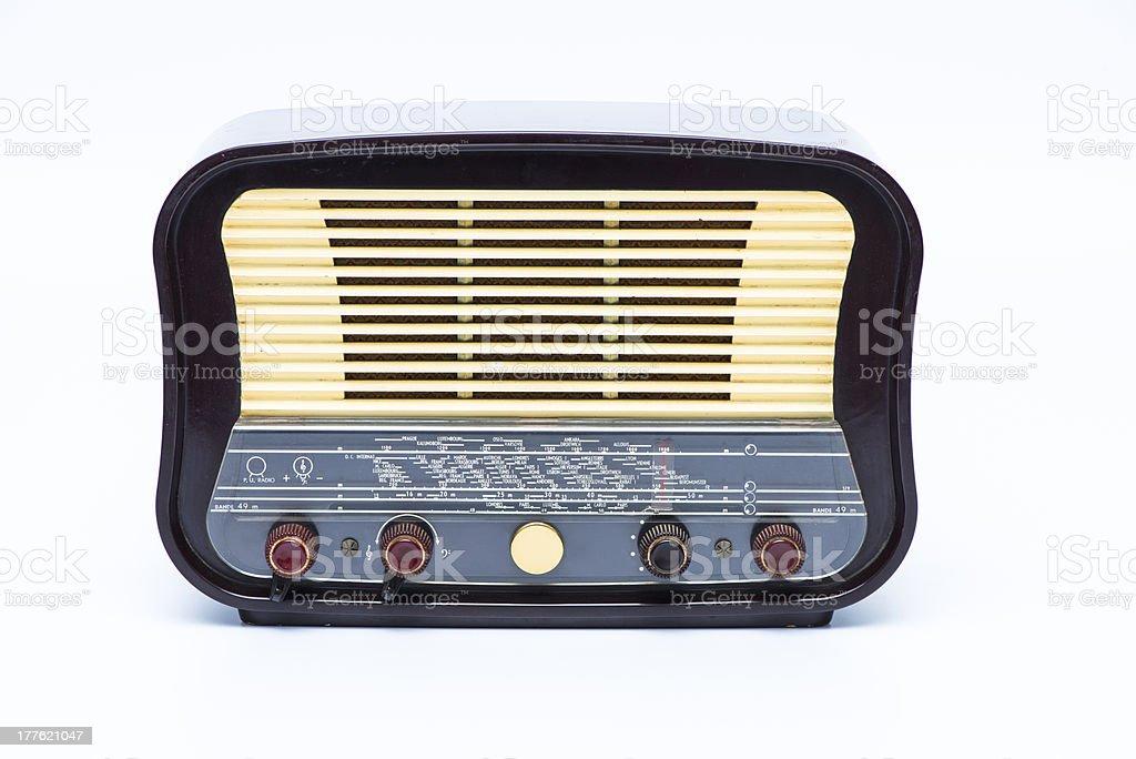 Old vintage radio royalty-free stock photo