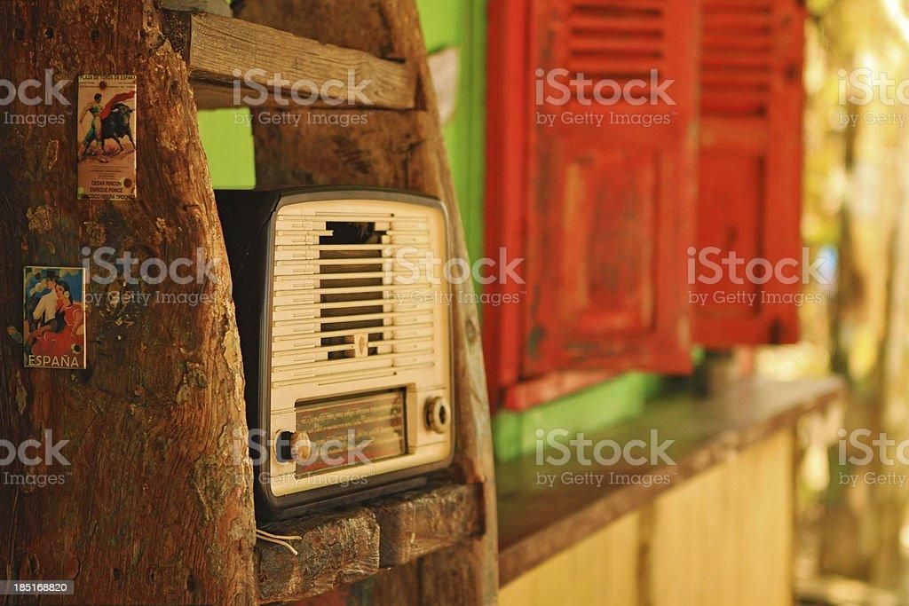 Old vintage radio stock photo