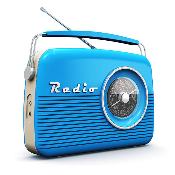 old vintage radio - radio station stock photos and pictures