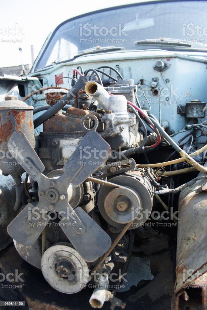 Old Vintage Retro Car Engine Stock Photo & More Pictures of ...