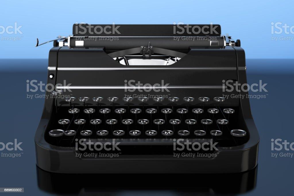 Old Vintage Retro Typewriter. 3d Rendering stock photo