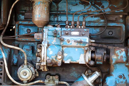 Old vintage rusty motor