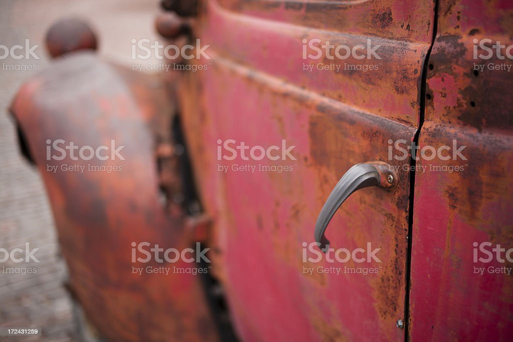 Old vintage rusty truck details royalty-free stock photo