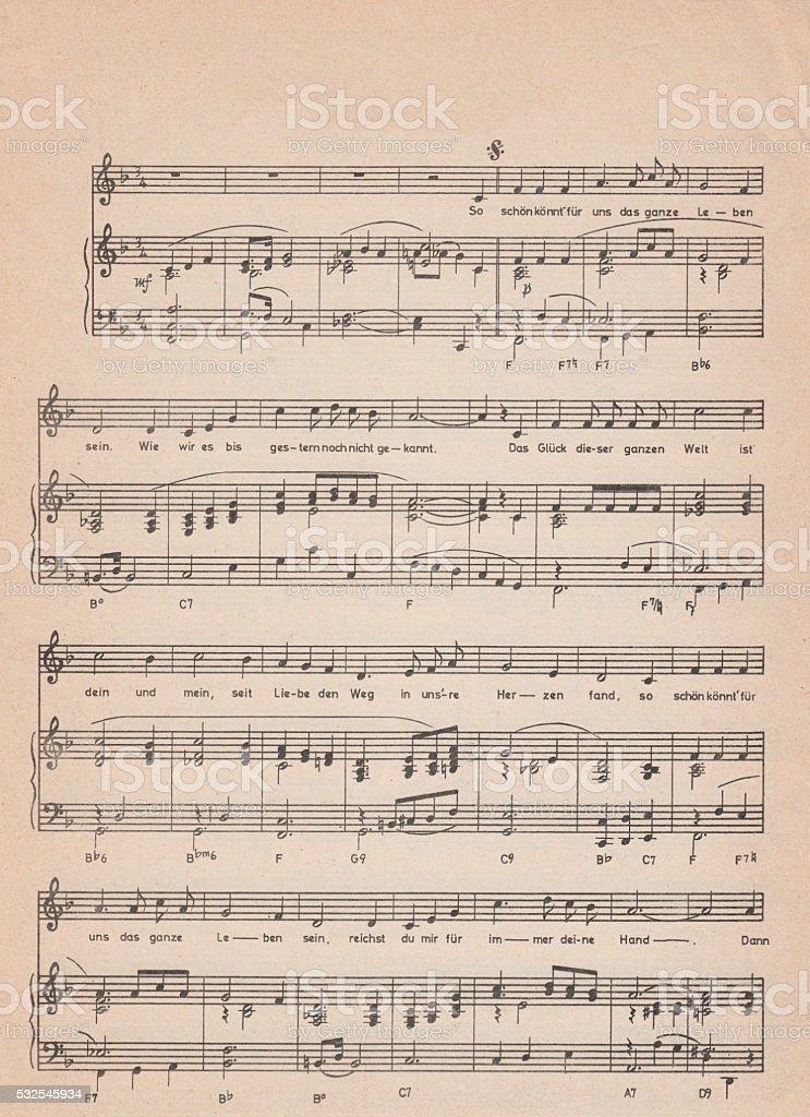 Old vintage sheet music - Royalty-free Arka planlar Stok görsel