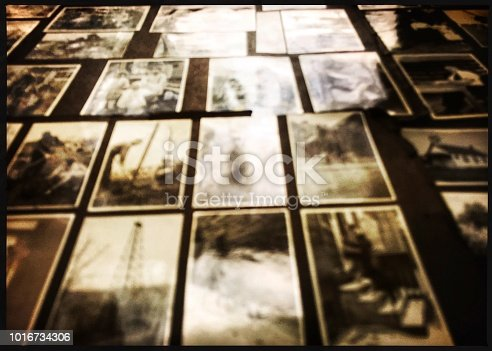 istock Old Vintage Snapshot Photographs Defocused 1016734306