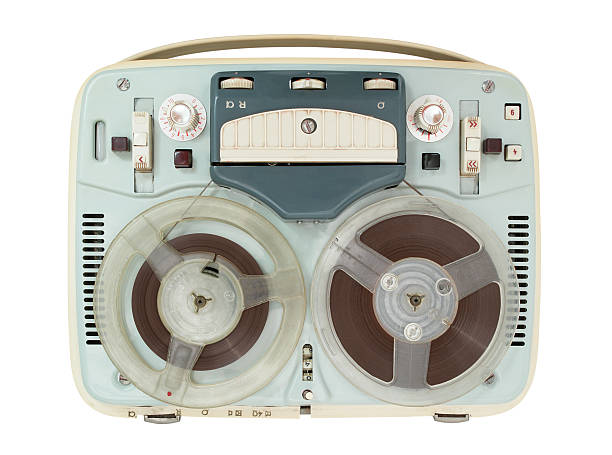 old vintage tape recorder - recorder stock photos and pictures