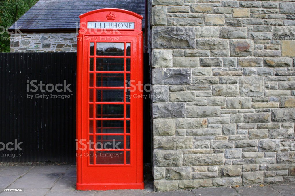 Old Vintage Telephone Box/Booth stock photo