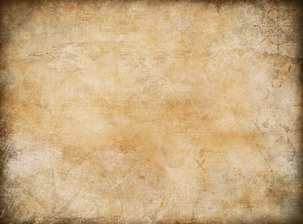old vintage treasure map nautical theme background - pirates stock photos and pictures