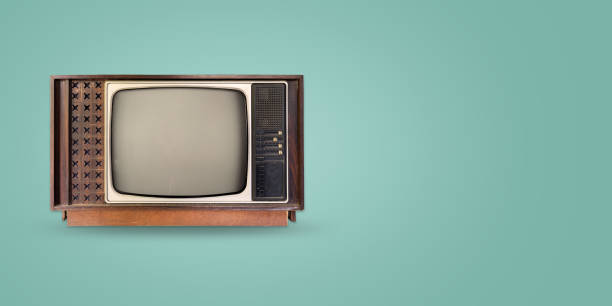 old vintage tv header hero stock photo