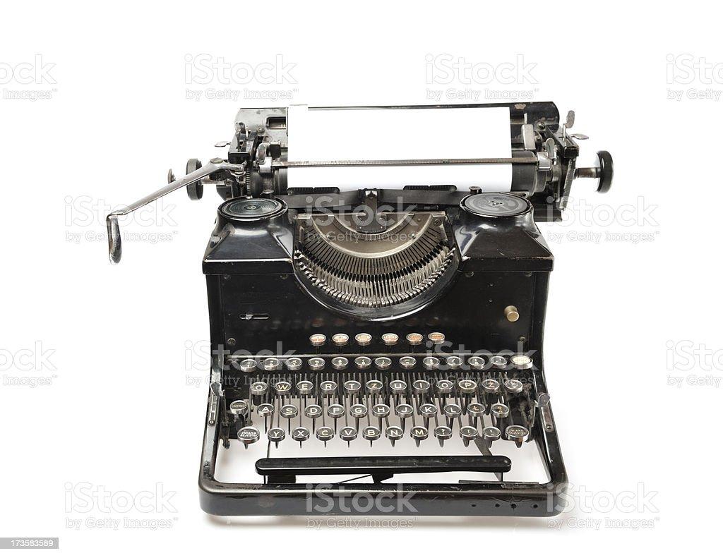 Old Vintage Typewriter. royalty-free stock photo