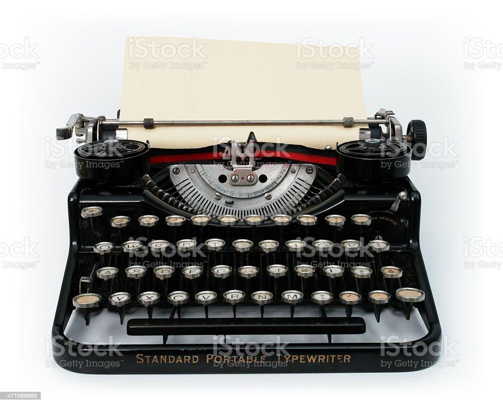 Old Vintage Typewriter stock photo