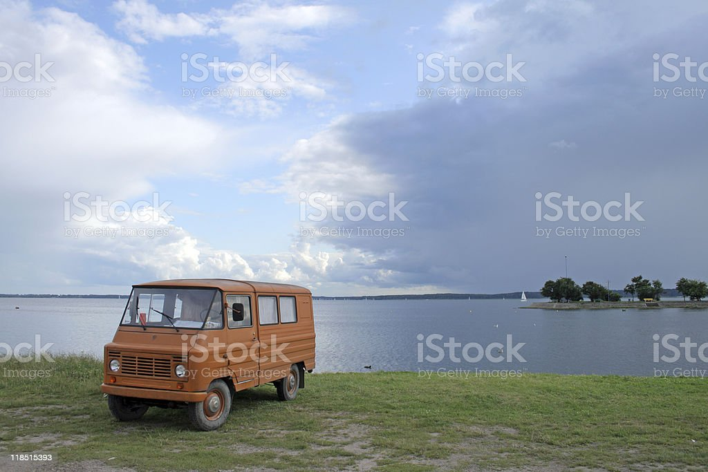 Old vintage van royalty-free stock photo