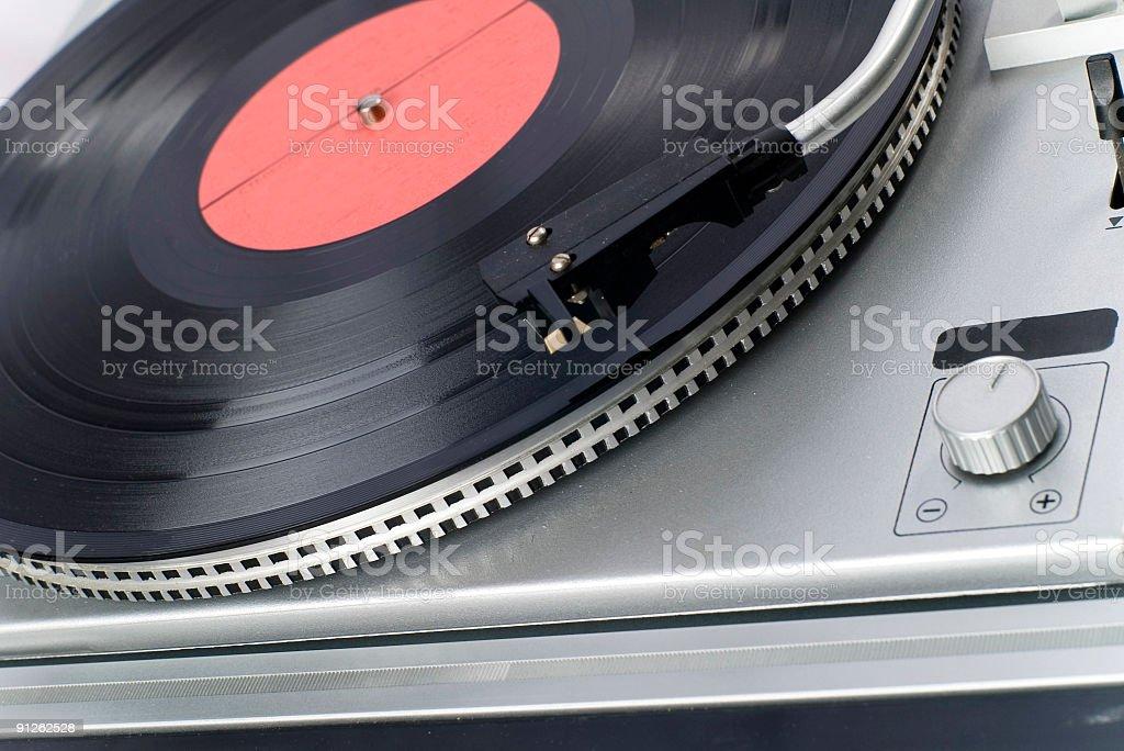 old Vinyl player stock photo