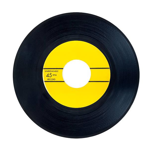 Old vinyl single record stock photo