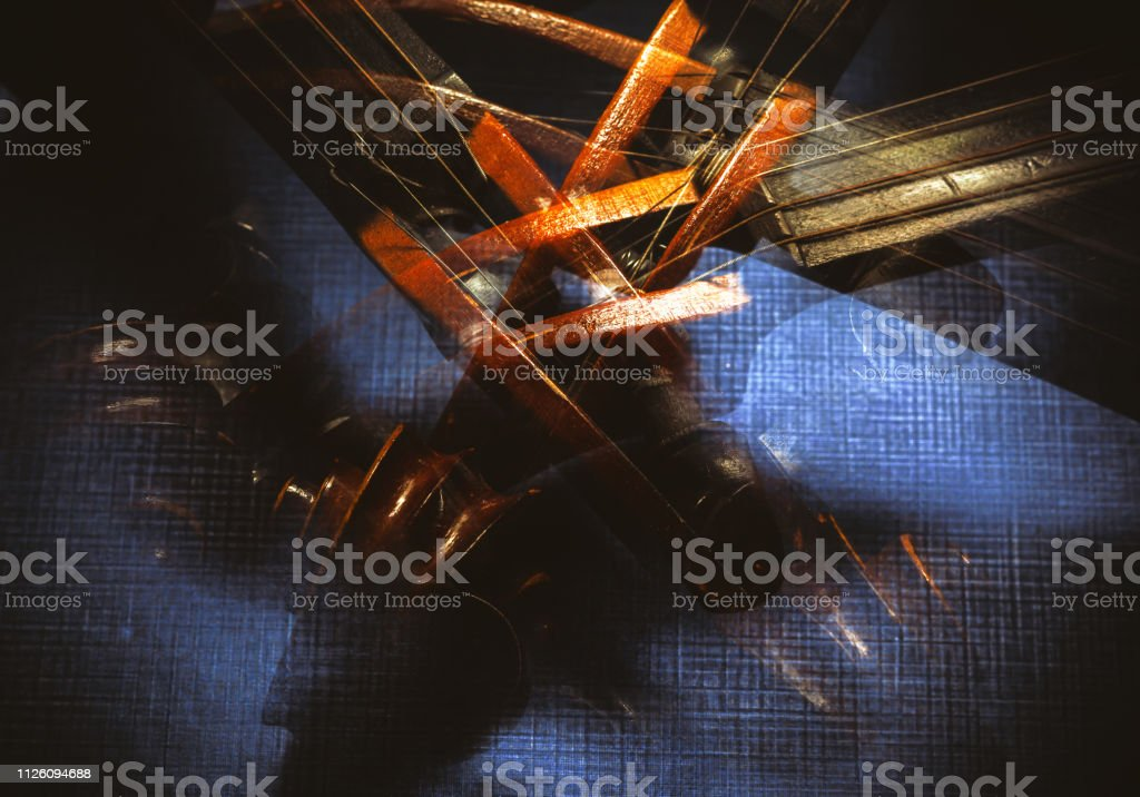 Old Violin Abstract stock photo