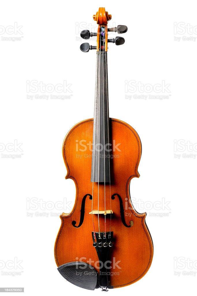 Old Violin on white stock photo