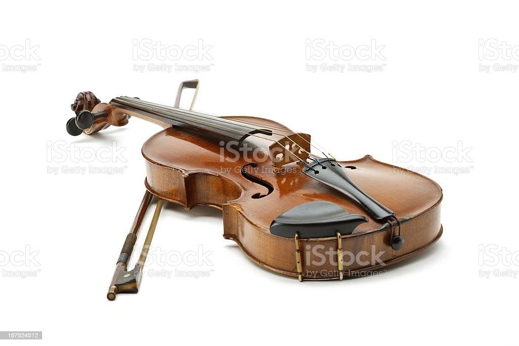 Old violin royalty-free stock photo