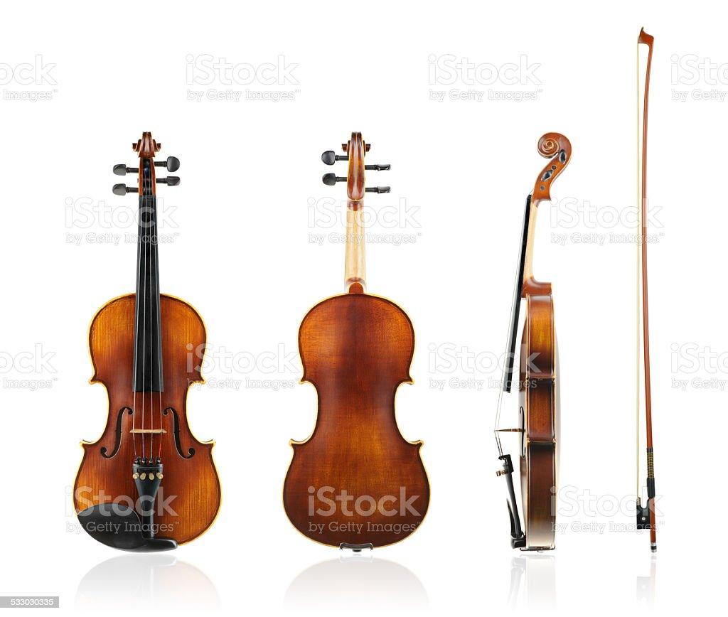Old violin. stock photo